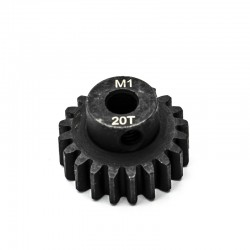 Pignon moteur M1 ø5mm 20 dents en acier