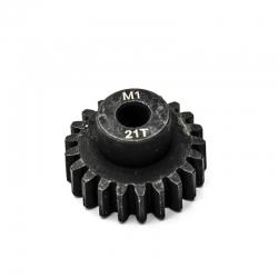 Pignon moteur M1 ø5mm 21 dents en acier