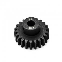 Pignon moteur M1 ø5mm 22 dents en acier