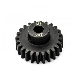 Pignon moteur M1 ø5mm 24 dents en acier