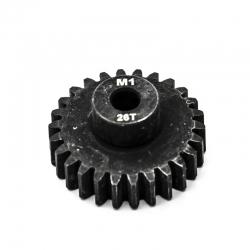 Pignon moteur M1 ø5mm 26 dents en acier