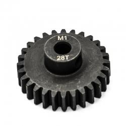 Pignon moteur M1 ø5mm 28 dents en acier