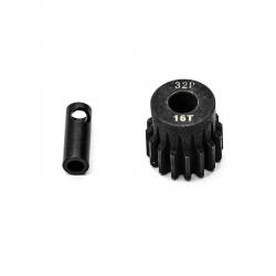 Pignon moteur 32dp ø5mm + adaptateur 3,17mm 16 dents en acier