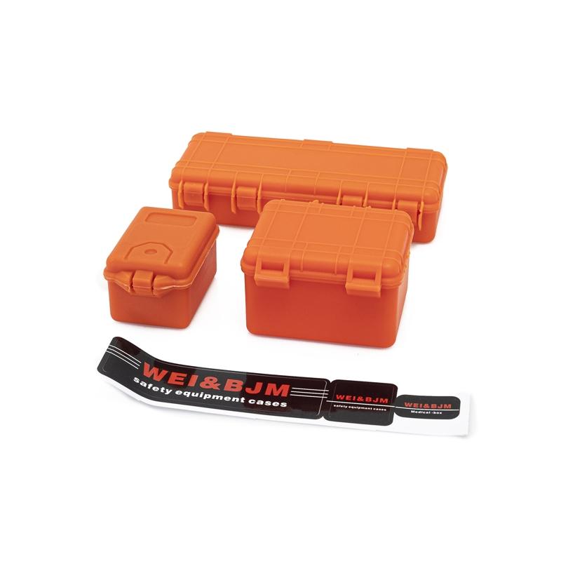 Set de 3 valises de protection orange