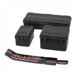 Set de 3 valises de protection noir