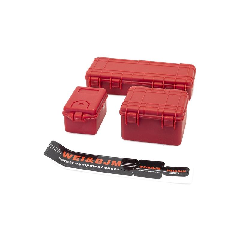 Set de 3 valises de protection rouge