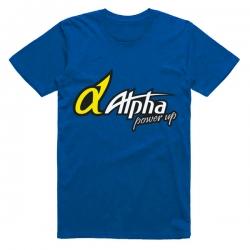 T-shirt Alpha Plus bleu Taille L