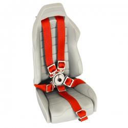 Ceinture de siège baquet Rouge avec attache en métal