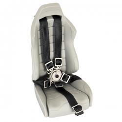 Ceinture de siège baquet Noir avec attache en métal