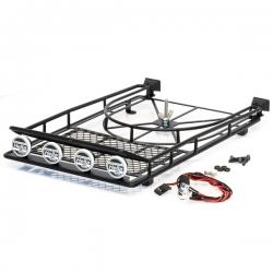Galerie de toit acier 250X150X45mm avec SPOT Led AV/ARR.et support de