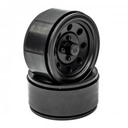 Jantes seules 1.9 Beadlock Noires pour Crawler (1 paire)