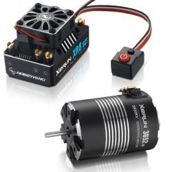 COMBO XERUN XR8 SCT+moteur XERUN 3652SD-5100KV-d 3.17mm+5mm adaptateu