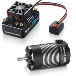 COMBO XERUN XR8 SCT+moteur XERUN 3660SD-3200KV-5mm+pignon 48dp 23T