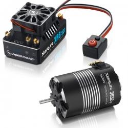 COMBO XERUN XR8 SCT+Moteur XERUN 3652SD-4300KV-d 3.17mm+5mm adaptateu