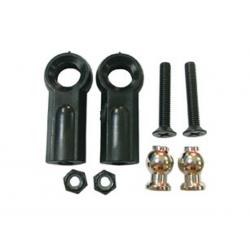 Chapes et rotules + vis pour bras superieur avant Ultra GT-LX  /  PRO