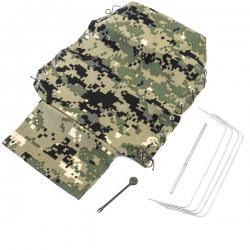 Kit Bache de remorque arrière complète PR4/CR6 Vert