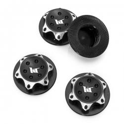 Ecrous de roues borgne en aluminium 17mm Noir