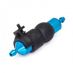 Bleu Filtre a carburant alu anodise avec pompe d amorcage + support