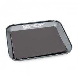 Plateau magnetique en aluminium gris métal 119X101mm