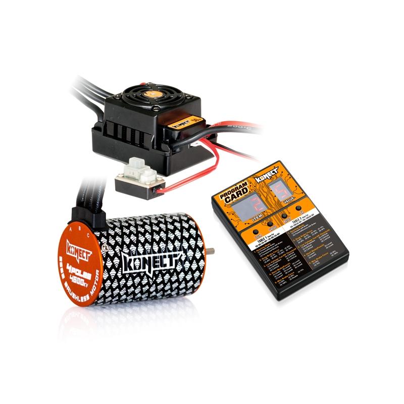 COMBO BRUSHLESS 50Amp WP + 4P 3652SL 4600Kv motor + program card – Konect
