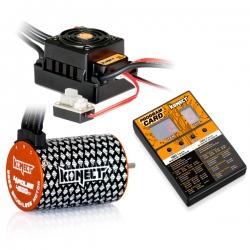 COMBO BRUSHLESS 50Amp WP + moteur 4P 3652SL 5400Kv +carte de prog
