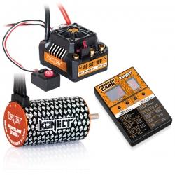 COMBO BRUSHLESS 80Amp SCT WP + moteur 4P 3660SL 3150Kv+carte de prog