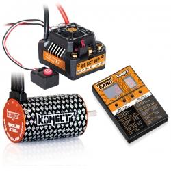 COMBO BRUSHLESS 80Amp SCT WP + moteur 4P 3660SL 3700Kv+carte de prog