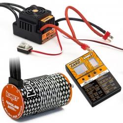 COMBO BRUSHLESS 1/8 100Amp WP + Moteur 4P. 4274 2200KV +carte de prog