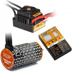 COMBO BRUSHLESS 1/8 150Amp WP + Moteur 4P. 4274 2200KV +carte de prog