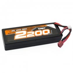 Konect Lipo 2200mah 7.4V 25C 2S1P 16.5Wh (Slim Pack Dean)