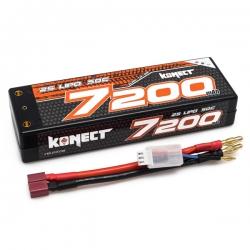 Konect Lipo 7200mah 7.4V 50C 2S1P 53.2Wh (Slim Pack Dean )