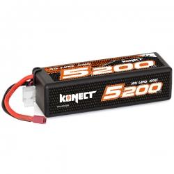 Konect Lipo 5200mah 11.1V 50C 3S1P 57.7Wh (Big Pack Dean)
