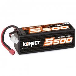 Konect Lipo 5500mah 14.8V 60C 4S1P 81.4Wh (XL pack Dean)