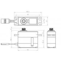 Servo mini alu SAVOX 7.4V  20kg 0.095s