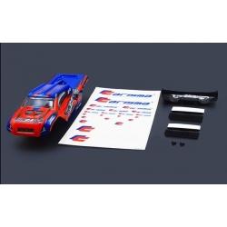 Carrosserie et aileron GT24TR Rouge/bleu