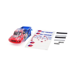 Carrosserie GT24T peinte et decorée Rouge / bleue