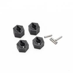 Hexagones + clavettes de roues Funtek STX (x4)