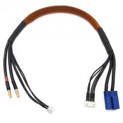 Cable de charge 40 cm avec equilibrage pour accu 4s prise EC5