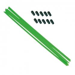 Tube antenne 30cm vert fluo avec capuchon silicone