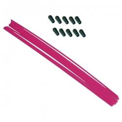 Tube antenne 30cm rose fluo avec capuchon silicone