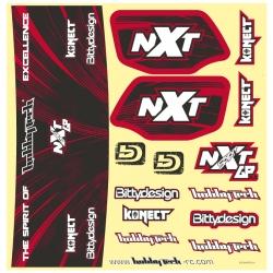 Planche stickers Spirit NXT GP Orange