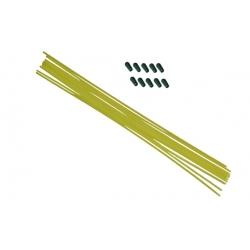 Tube antenne 30cm jaune fluo avec capuchon silicone