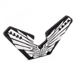 Support d'amortisseur avant Alu. 4mm OAS noir (fabrication Francaise)