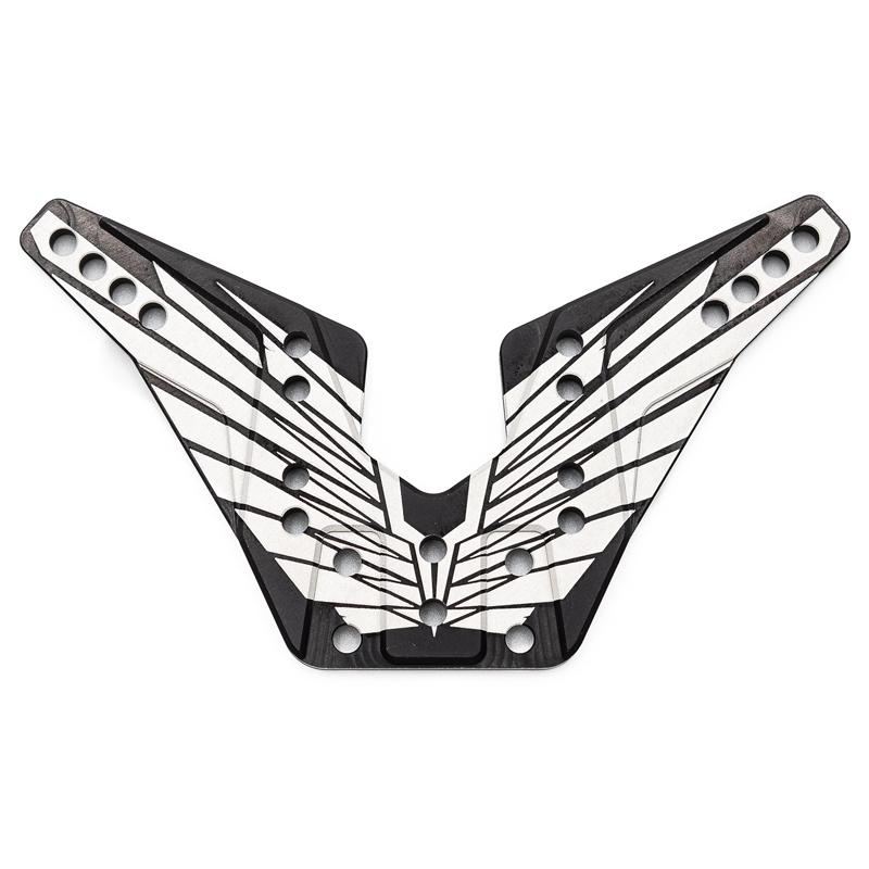 Support Arrière Alu. 4mm OAS noir (fabrication Francaise)
