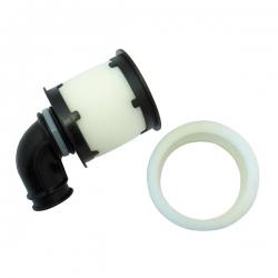 Filtre a air 1 / 8eme noir double mousse avec coude silicone