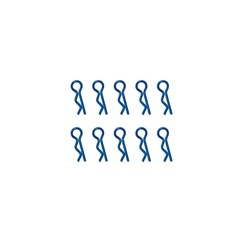 Clips de carrosserie bleu anodisés 1/10ème 10pcs