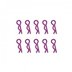 Clips de carrosserie violet anodisés 1/10ème 10pcs