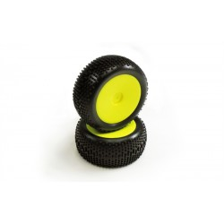 GT14B - NEON YELLOW STANDARD PRE-GLUED REAR TIRE