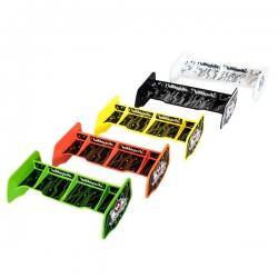 Aileron buggy 1/10 plastique noir+stickers