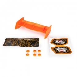 Aileron buggy 1/10 plastique orange+stickers
